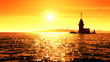 Maidens Tower sunset sea 1