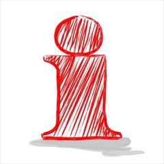 Informationszeichen Skizze Zeichnung rot weiß