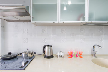 Kitchen interior closeup