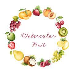 Watercolor fruit