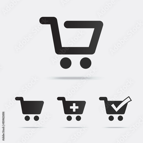 Fototapeta Shopping Cart Icons
