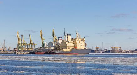 icebreaker at the pier