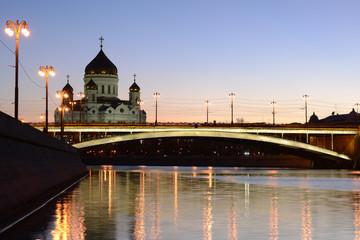 Orthodox church of Christ the Savior and Big Stone bridge.