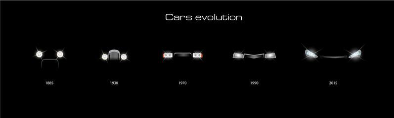Evolution cars. Vector illustration.