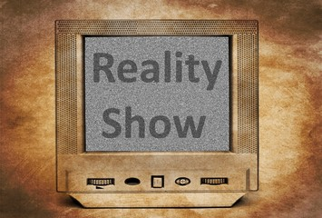 Reality show sign on TV