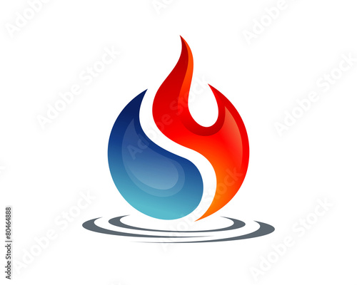 Yin Yang of Fire and Water - 80464888