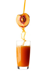Juice pouring from peach