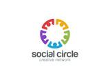 Team Social network Logo design. Teamwork Partnership - 80465276