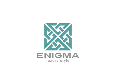 Square Enigma Rebus Maze Labyrinth Logo infinity loop
