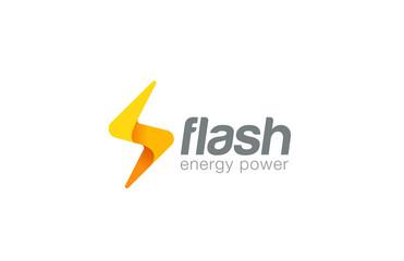 Lighting bolt Flash Logo design vector. Fast Quick icon