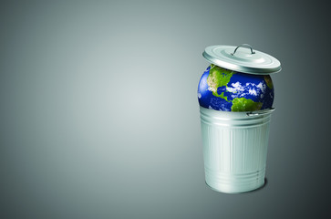 The problem of soil pollution. Planet in a garbage can