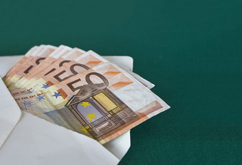 banknotes in an envelope 50 euro