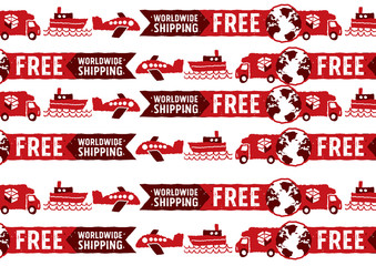 Worldwide shipping logos and signs Pattern