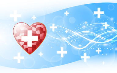 hospital health care abstract background