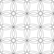 Black and white geometric seamless pattern with wave line.