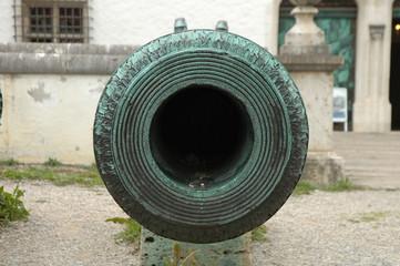 Antique cannon barrel