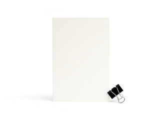 blank white card on a white