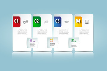 Business step paper data and numbers design template