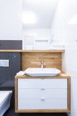 Cupboard in luxury bathroom