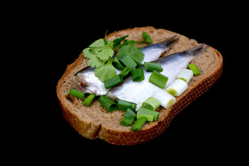 herring and green onion