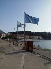 Bandiera europea e greca
