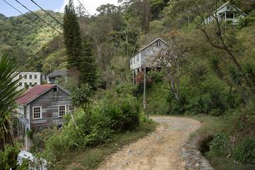 road through abandoned town Honduras