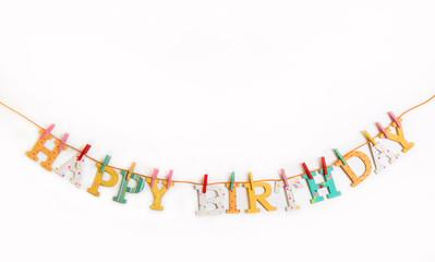Gratulation zum Geburtstag: Happy Birthday Dekoration