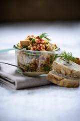 Tofu-Coucous mit Gemüse