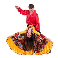 Gypsy flamenco dancer couple