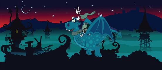 Night watch.fantasy illustration