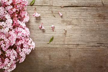 Blütenpracht am Holztisch