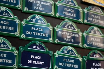 plaques de rues parisienne en miniature