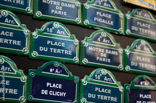 Poster plaques de rues parisienne en miniature