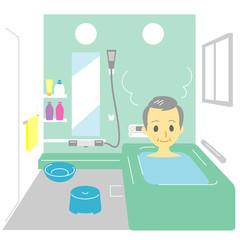 入浴 おじいさん