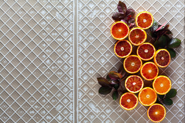 group oranges fruit cut