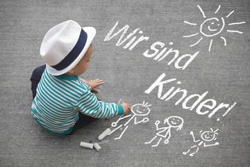 Kinderzeichnung - Wir sind Kinder!