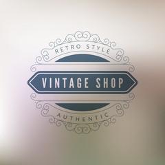 Logo Vintage shop Retro Vintage Label design vector