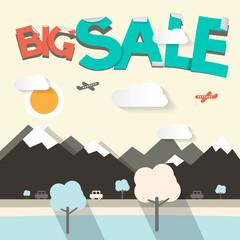 Big Sale Flat Design Vector Illustration