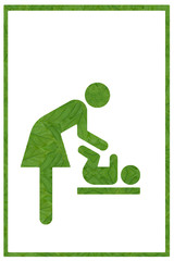 Idea from leaf.(Mother room  symbol concept