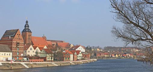 Blick auf Havelberg an der Havel (Mecklenburg-Vorpommern)