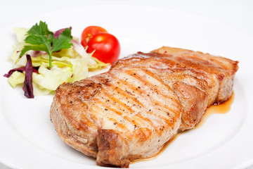 Great beef steak with vegetables