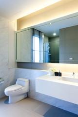 Modern public bathroom