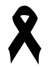 black mourning ribbon