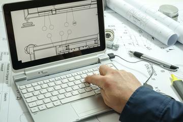 Symbolfoto - Konstruktionspläne, 3D Zeichnung, Berechnung