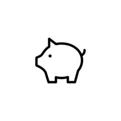 Piggy Bank - Trendy Thin Line Icon