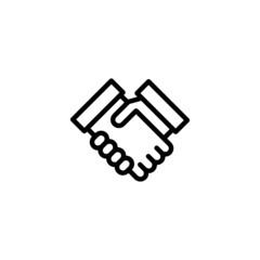 Handshake - Trendy Thin Line Icon