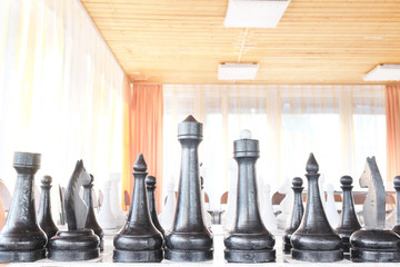 Сloseup of chess pieces