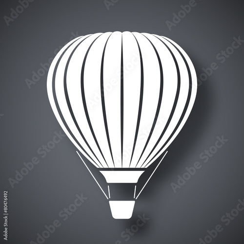 Vector hot air balloon icon - 80476492
