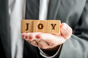 Concept of joy in life and workplace