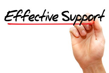 Hand writing Effective Support with marker, business concept